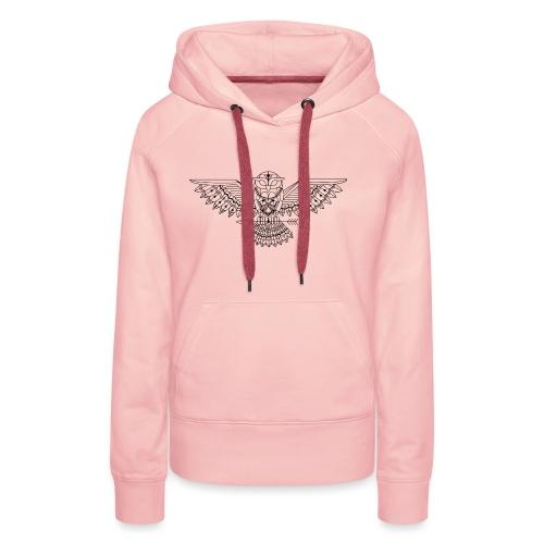 Grafische uil - Vrouwen Premium hoodie