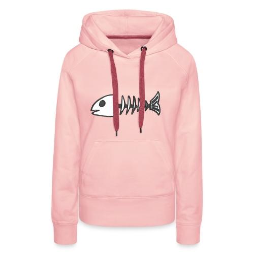 Dead Fish - Sweat-shirt à capuche Premium pour femmes