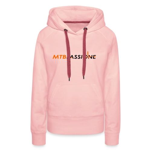Logo Grafico MTB Passione - Felpa con cappuccio premium da donna