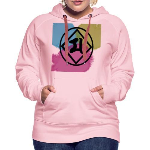 Logo Japones color - Sudadera con capucha premium para mujer