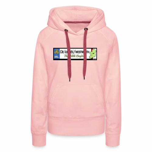 WESTMEATH, IRELAND: licence plate tag style decal - Women's Premium Hoodie