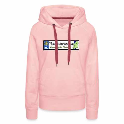 MONAGHAN, IRELAND: licence plate tag style decal - Women's Premium Hoodie