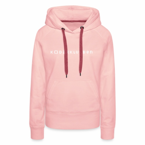 The Kodarklubben mörka produkter med vit logotyp - Women's Premium Hoodie