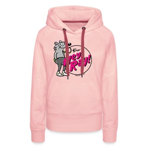 Hey Ray! Logo magenta - Frauen Premium Hoodie
