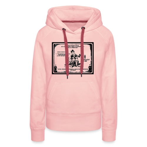 charlie chaplin, annniversaire disparition - Sweat-shirt à capuche Premium pour femmes