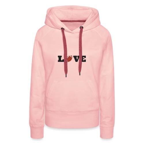 Love foot us - Sweat-shirt à capuche Premium pour femmes