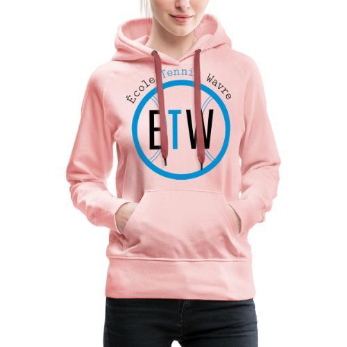logo rond tennis vert - Sweat-shirt à capuche Premium pour femmes