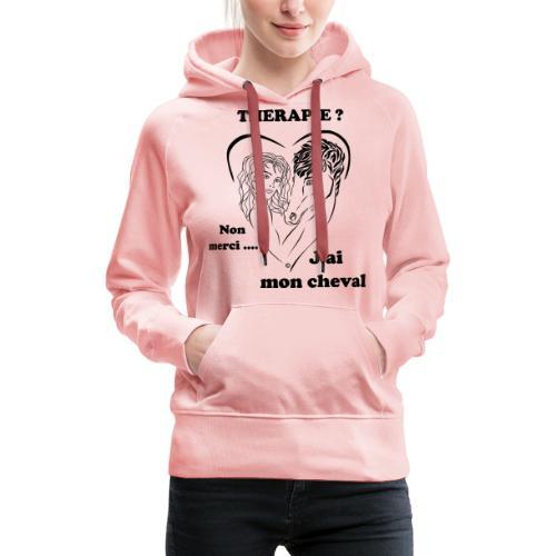 cheval thérapie FC - Sweat-shirt à capuche Premium pour femmes