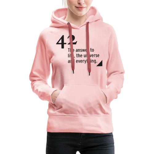 42 - the answer - Frauen Premium Hoodie