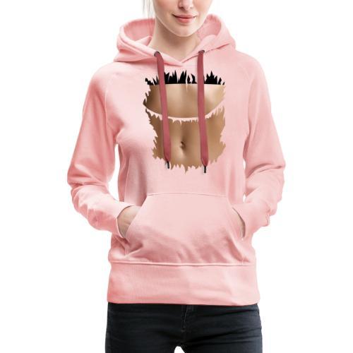 t shirt ventre plat brassiere noire - Sweat-shirt à capuche Premium pour femmes