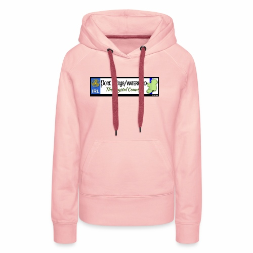 WATERFORD, IRELAND: licence plate tag style decal - Women's Premium Hoodie