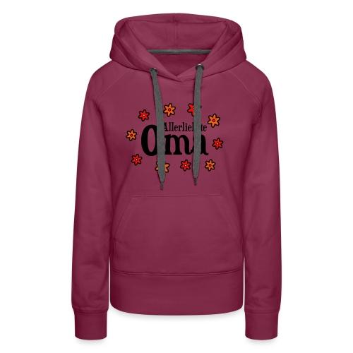 Allerliebste Oma Blumen Geschenk - Frauen Premium Hoodie