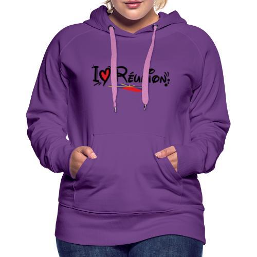i love Réunion - MAHAVELI - Sweat-shirt à capuche Premium pour femmes