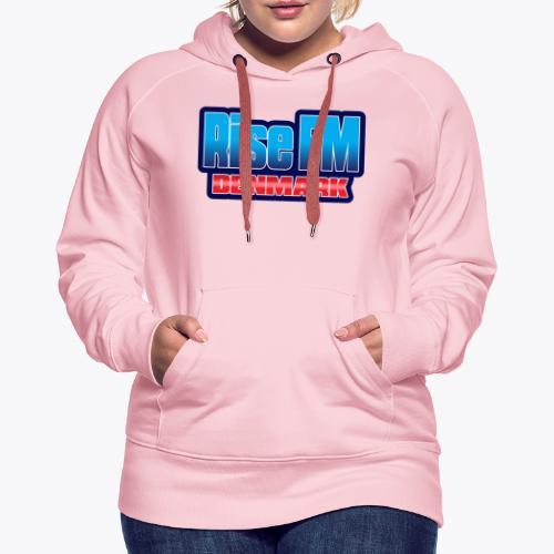 Rise FM Denmark Text Only Logo - Dame Premium hættetrøje