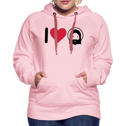 I LOVE JESUS - Women's Premium Hoodie
