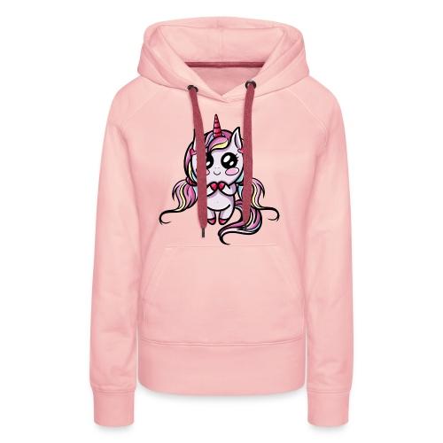 Licorne Kawaii - Sweat-shirt à capuche Premium pour femmes