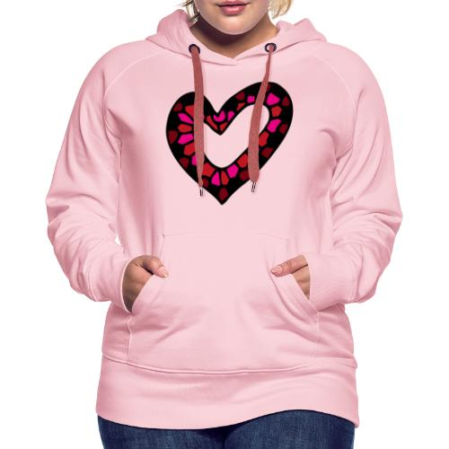 Herz Mosaik Buntglas - Frauen Premium Hoodie