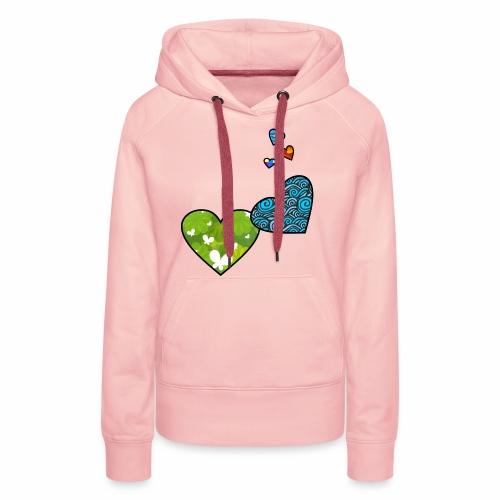 Herzchen - Frauen Premium Hoodie