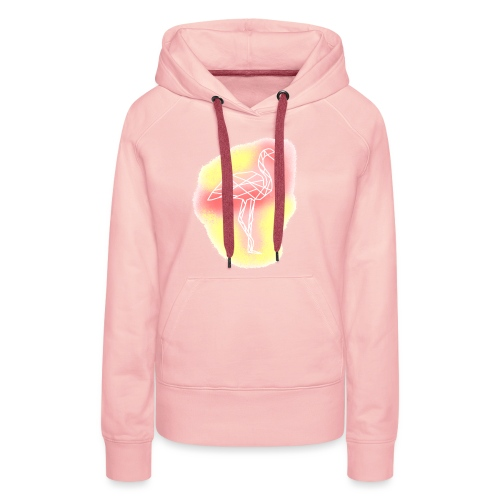 Geometric flamingo - Sweat-shirt à capuche Premium pour femmes