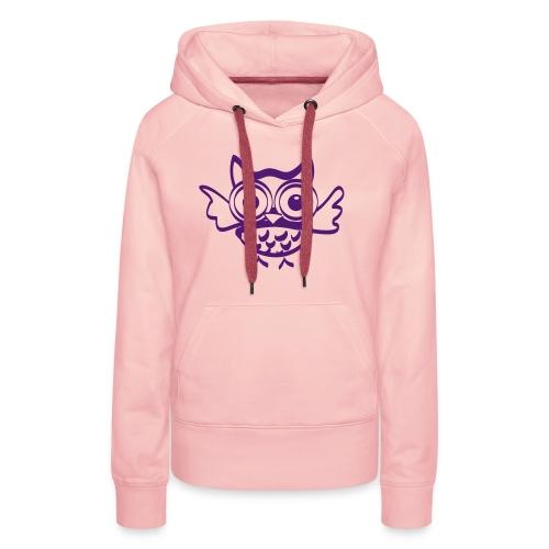 Chouette Hugo - Sweat-shirt à capuche Premium pour femmes
