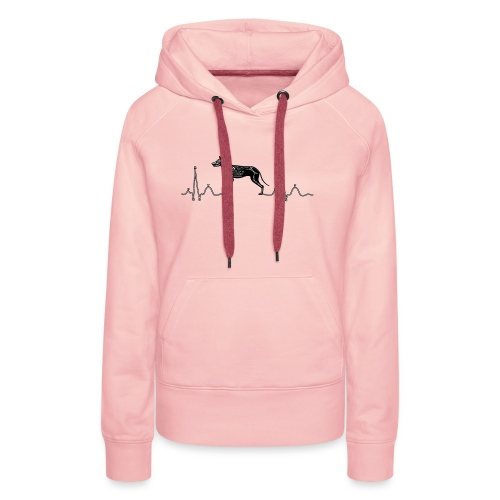 ECG met hond - Vrouwen Premium hoodie