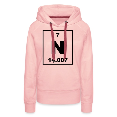 Nitrogen (N) (element 7) - Women's Premium Hoodie