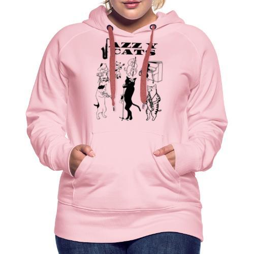 jazzy cats - Sweat-shirt à capuche Premium pour femmes