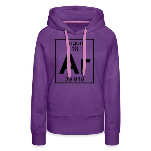 Argon (Ar) (element 18) - Women's Premium Hoodie