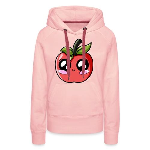 Pomme Kawaii - Sweat-shirt à capuche Premium pour femmes
