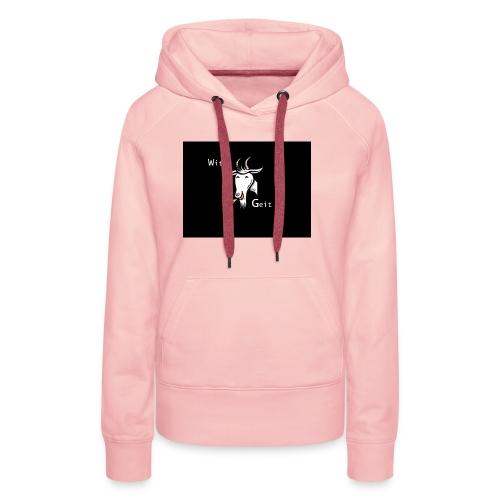 witte geit - Vrouwen Premium hoodie