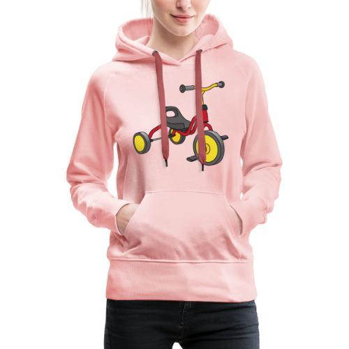 Rot-gelbes Kinderdreirad - Frauen Premium Hoodie