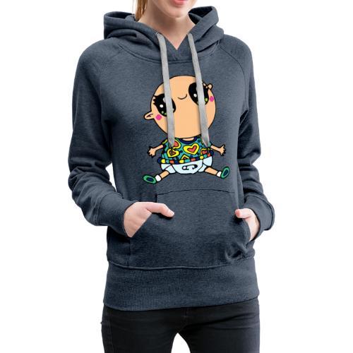 Louis le bébé - Sweat-shirt à capuche Premium pour femmes