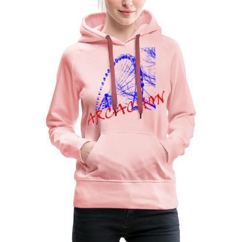 Grande roue Arcachon - Sweat-shirt à capuche Premium pour femmes