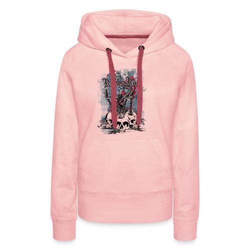 rock n roll skulls - Vrouwen Premium hoodie