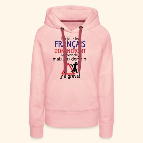 domination française - Sweat-shirt à capuche Premium pour femmes