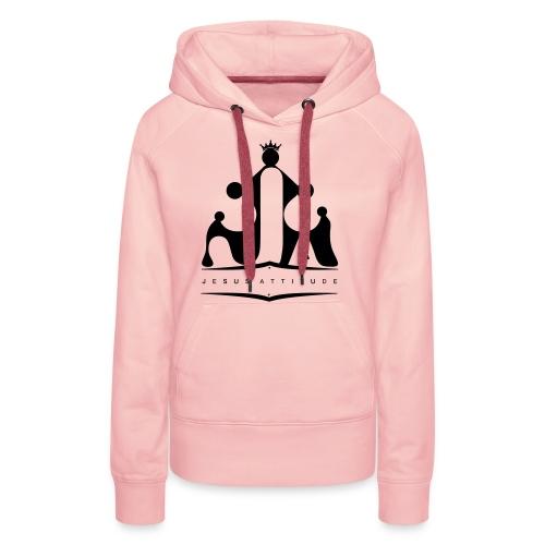 Logo Jesus Attitude - Sweat-shirt à capuche Premium pour femmes