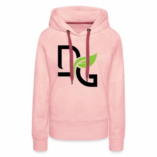 DrGreen Logo Symbol schwarz grün - Frauen Premium Hoodie