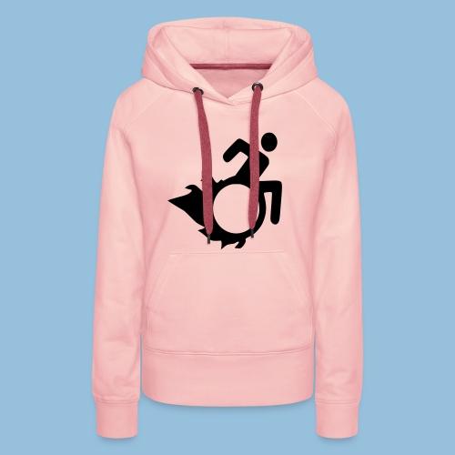 Roller met vlammen 004 - Vrouwen Premium hoodie