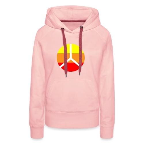 La paix - Sweat-shirt à capuche Premium pour femmes