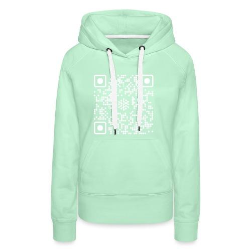 QR Safenetforum White - Women's Premium Hoodie