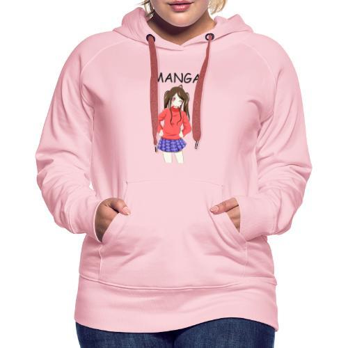 Anime girl 02 Text Manga - Frauen Premium Hoodie