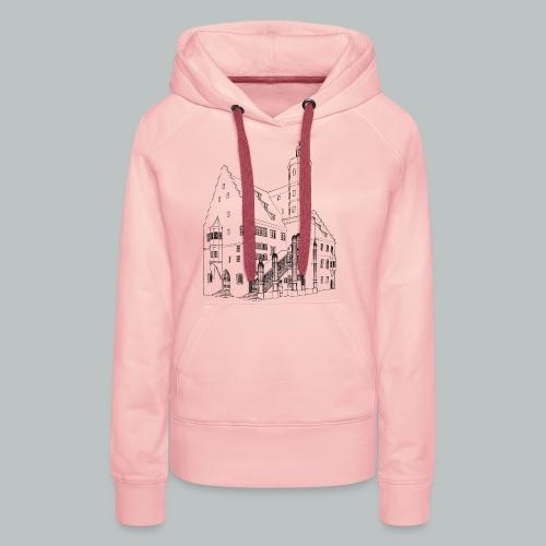 Nördlingen T-Shirt Rathaus schwarz - Frauen Premium Hoodie