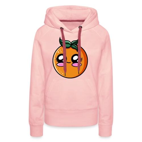 Orange Kawaii - Sweat-shirt à capuche Premium pour femmes