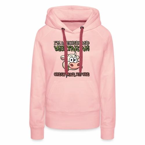 Secondhand vegetarian - Vrouwen Premium hoodie