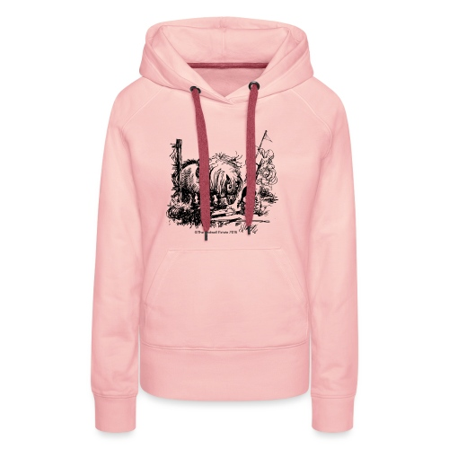 Thelwell Cartoon Pony Missgeschick - Frauen Premium Hoodie