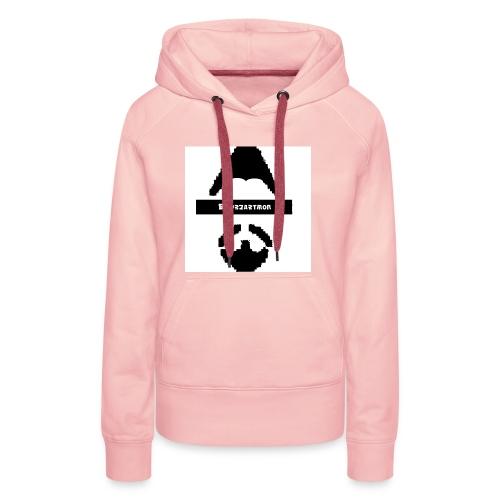 Biturzartmon Logo schwarz/weiss asiatisch - Frauen Premium Hoodie