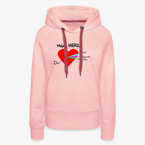 Herz Tortendiagramm 3 - Frauen Premium Hoodie
