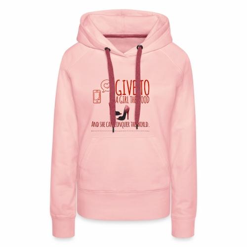 the shoes - Sweat-shirt à capuche Premium pour femmes
