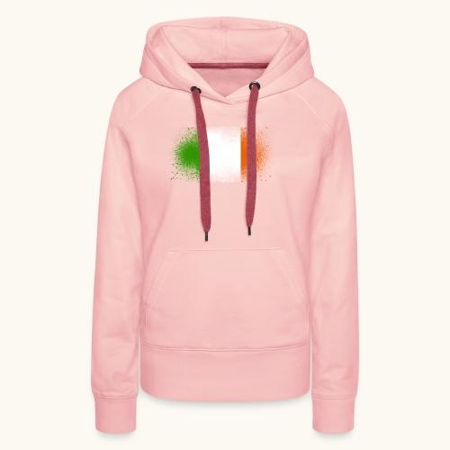 Irland Grunge irische Flagge lustig Geschenk Ire - Sweat-shirt à capuche Premium pour femmes