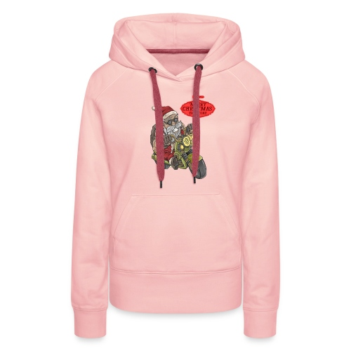 Santa Claus wishes you a Merry Christmas - Sweat-shirt à capuche Premium pour femmes